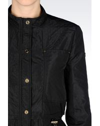Armani Jeans - Black Blouson In 3D Effect Technical Fabric - Lyst