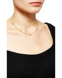 Buccellati - Metallic Necklace With 7 Engraved Motifs In Yellow Gold - Lyst