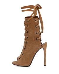 Giuseppe Zanotti - Brown Suede Lace-Up Boots - Lyst