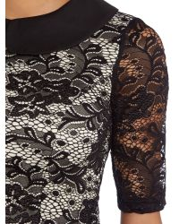 Chi Chi London - Metallic Lace Tea Dress - Lyst