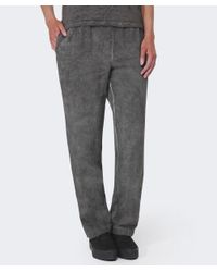 Grizas Gray Textured Linen Trousers