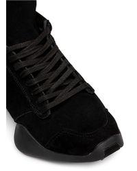 Rick Owens - Black X Adidas 'runner' Angular Suede Sneakers - Lyst