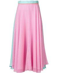 ROKSANDA Pink Long Colour Block Skirt