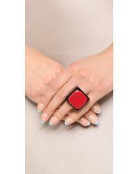 Marni Resin Ring - Black Cherry
