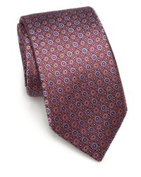 Saks Fifth Avenue | Red Circle Silk Tie for Men | Lyst