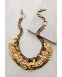Anthropologie | Metallic Shilling Bib Necklace | Lyst