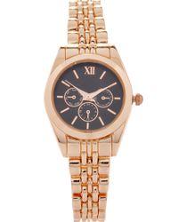 Forever 21 Metallic Chronograph Bracelet Watch