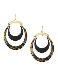 Trina Turk | Metallic Multi-colored Oval Drop Earring | Lyst