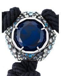 Lanvin | Blue Tassel Necklace | Lyst