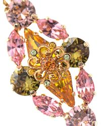 Dolce & Gabbana - Pink Gold-plated Embellished Earrings - Lyst