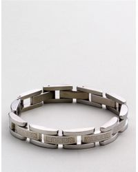 Lord & Taylor | Metallic Sterling Silver Greek Key Men's Bracelet for Men | Lyst