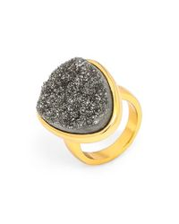 BaubleBar | Metallic Drusy Cocktail Ring | Lyst