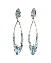 Alexis Bittar | Blueberry Marquis Cluster Link Clip Earring With 18K Gold Marquis | Lyst