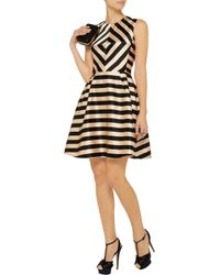 Jill Stuart Metallic Linda Printed Satin Dress