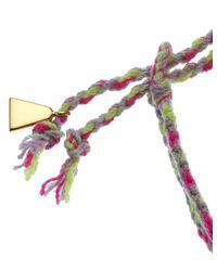 Lucy Folk | Metallic Golden Sun Cotton Friendship Bracelet | Lyst
