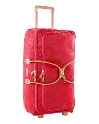 Bric's Red 'life' Rolling Duffel Bag for men