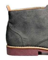 H&M | Gray Desert Boots for Men | Lyst