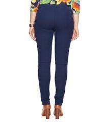 Lauren by Ralph Lauren Blue Plus Stretch Cotton Leggings