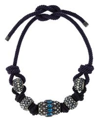 Lanvin | Black Embellished Necklace | Lyst