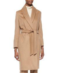 Max Mara Natural Agnone Mid-Length Wrap Coat