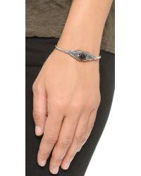 Pamela Love | Metallic Reina Cuff Bracelet - Antique Silver/onyx | Lyst