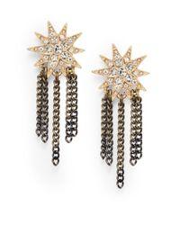 Saks Fifth Avenue - Metallic Starburst Chain-Tassel Earrings - Lyst