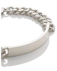 Loren Stewart   Metallic Silver Big Daddy Id Bracelet   Lyst