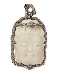 Armenta | Metallic Bone Buddha Enhancer With Champagne Diamonds for Men | Lyst