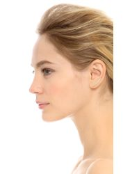 EF Collection White Floating Stone Curved Bar Left Ear Crawler