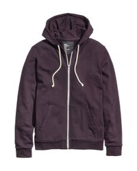 H&M - Purple Hooded Jacket for Men - Lyst
