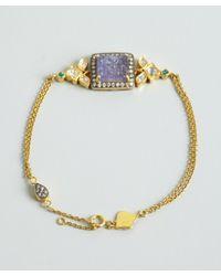 Amrapali - Metallic Tanzanite Emerald and Diamond Bracelet - Lyst