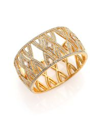 Adriana Orsini | Metallic Athena Kite Cage Bangle Bracelet | Lyst