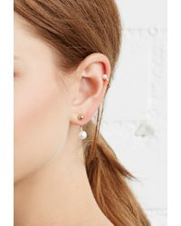 Forever 21 - Metallic Rhinestone Mixed Earring Set You've Been Added To The Waitlist - Lyst