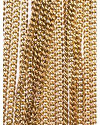Rosantica - Metallic Belle Époque Cagedstone Tassel Necklace - Lyst