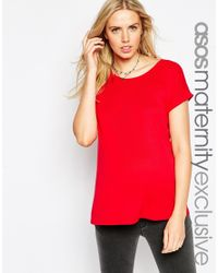 ASOS - Red T-shirt In Baby Rib - Lyst