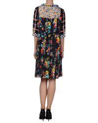 Love Moschino Blue Hippie Love Print Woven Shift Dress