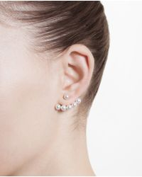 Yvonne Léon | Metallic 18K Gold And Pearl Lobe Earring | Lyst
