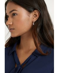 Oasis | Pink Gold Plated Baguette Stone Drop Earring | Lyst