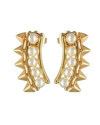 Rebecca Minkoff - Metallic Pearl Cuff Earrings - Lyst