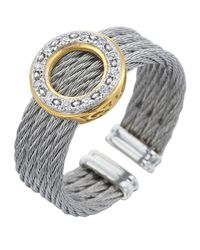 Alor - Gray Diamond Circle-station Cable Ring - Lyst