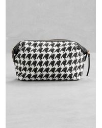 & Other Stories White Houndstooth Vanity Bag