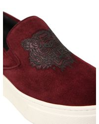 KENZO | Purple 40mm Tiger Suede Slip-on Sneakers | Lyst
