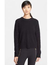 Rag & Bone Black 'catherine' Cashmere Crewneck Sweater