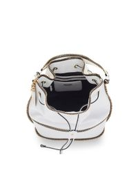 Moschino - Zippers Bucket Bag In White - Lyst