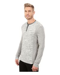 Calvin Klein Jeans | Gray L/s Henley Color Blocked for Men | Lyst