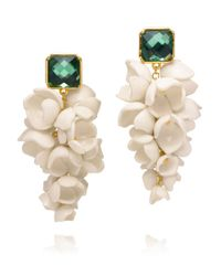 Tory Burch Green Anais Grape Flower Earring