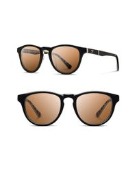 Shwood - Black 'francis - Pendleton' 48mm Polarized Sunglasses for Men - Lyst