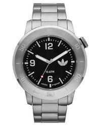 Adidas Originals - Metallic 'manchester' Round Bracelet Watch for Men - Lyst