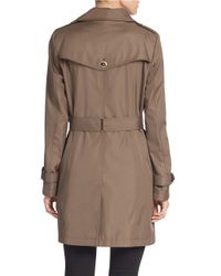 Calvin Klein Brown Plus Belted Trench Coat