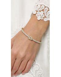 Michael Kors - Metallic Pave Knot Hinge Bracelet - Gold/Clear - Lyst